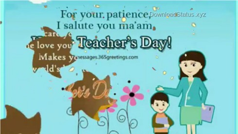 Thank You Teacher – Teacher's Day Whatsapp Status Video