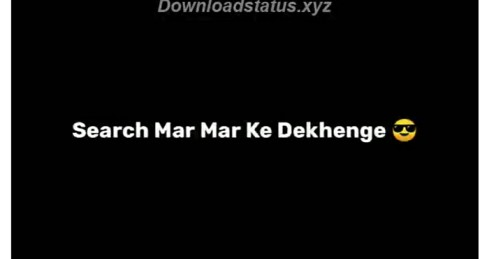 Attitude Shayari Status Video Download