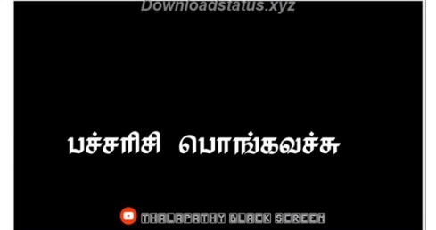 Pongal Song Lyrics Black Screen Whatsapp Status