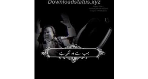 Jab Se Wo Aankh Hai Khafa Humse – Full Screen Status Video